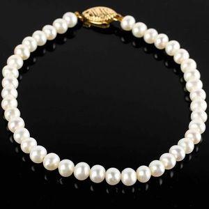Freshwater Pearl Bracelet w 14K Yellow Gold Clasp